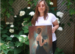 Nilou with her painting